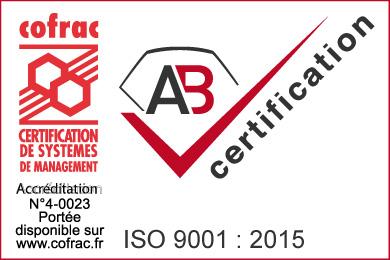 Marque ISO 9001 2015 avec COFRAC