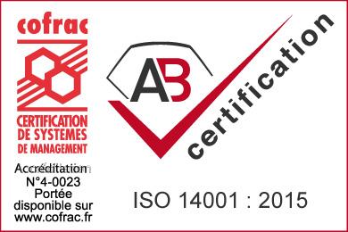Marque ISO 14001 2015 avec COFRAC